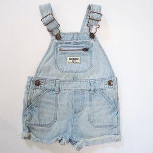 Oshkosh Baby short denim overalls, 18 months